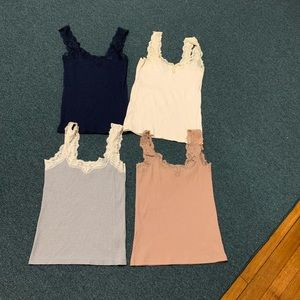 Bundle of J. Crew lace tank tops small